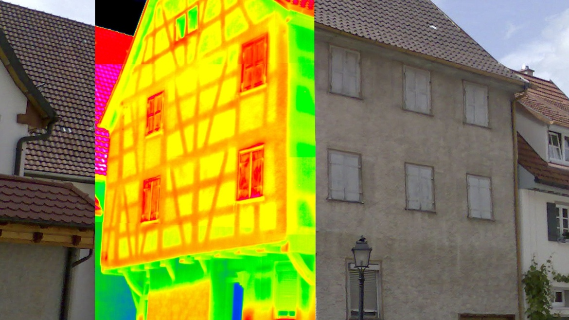 Analysis of a half-timbered construction with infrared thermography